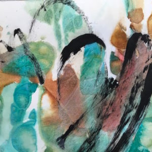 Kathleen Conover Abstract Watercolor and Collage. Motion, color, energy and momentum.