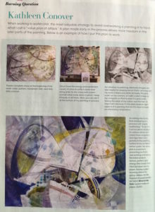 Watercolor Magazine article of Kathleen Conover tips!