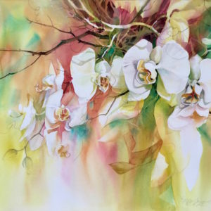 Kathleen Conover watercolor orchids